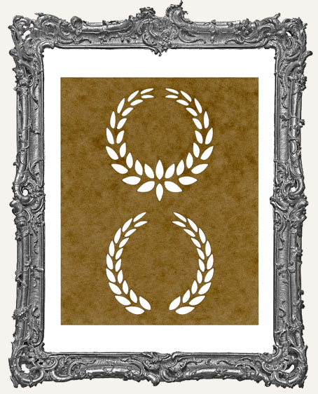 SMALL Laurel Wreath Stencil - Style 3