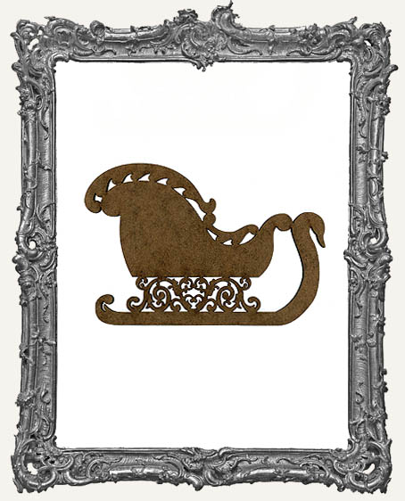 Masonite Victorian Christmas Sleigh Cut-Out - 3 Sizes