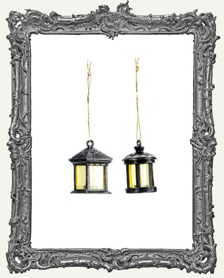 Miniature Black Lanterns - 2 Pieces