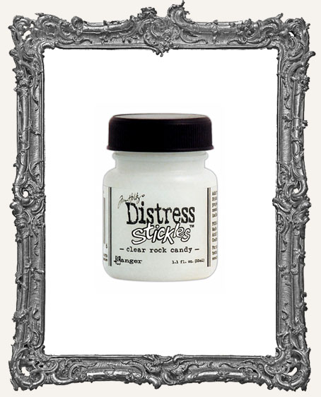 Distress Stickles Glitter Glue with Brush - Clear Rock Candy