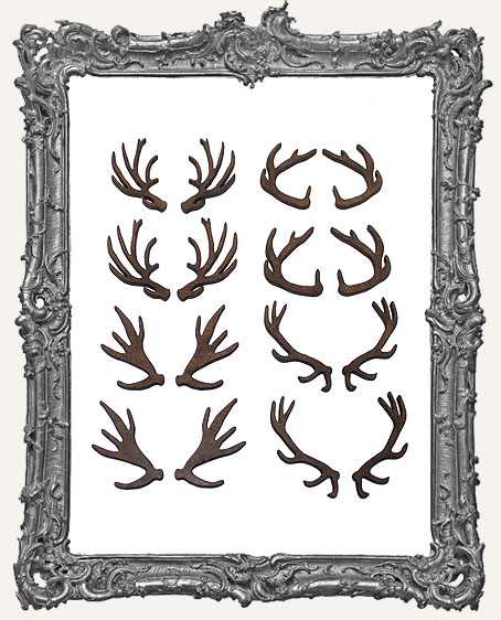Medium Antler Cut-Outs - 16 Pieces