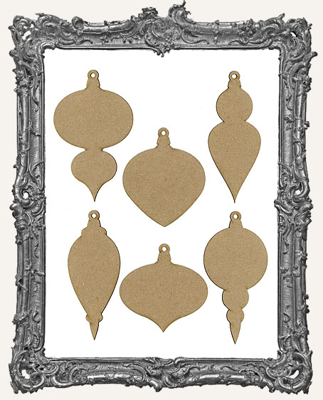 Chipboard Vintage Ornament Tags - Set of 6