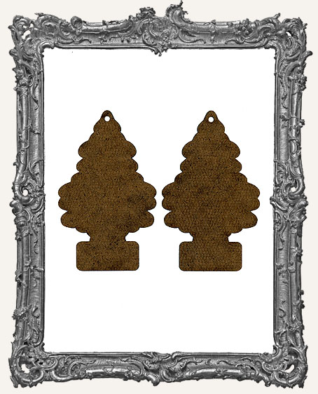 Masonite Christmas Tree Ornaments - Set of 2