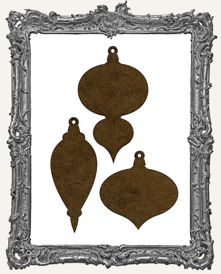 Masonite Vintage Ornaments Style 1 - Set of 3