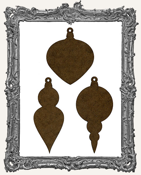 Masonite Vintage Ornaments Style 2 - Set of 3