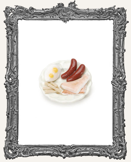 Miniature Breakfast Food Plate