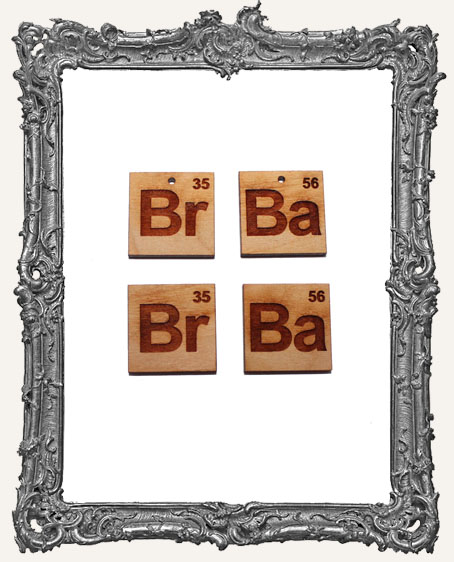 Periodic Table Chemical Element Cut Outs � 4 Pieces