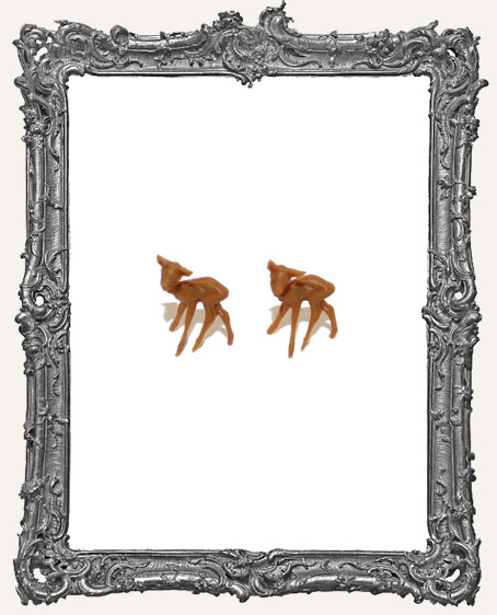 Super Tiny Brown Deer .5 Inch - Set of 2