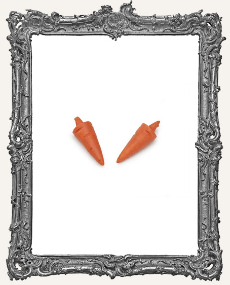 Miniature Snowman Carrot Nose - 2 pieces