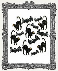 Jolees Halloween Cat and Bat Embellishments -14 Pieces