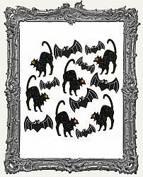 Jolees Halloween Cat and Bat Embellishments -14 Pieces
