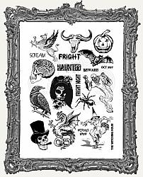 Creative Expressions Mixed Media Transfers By Andy Skinner - Pack of 2 - Horror