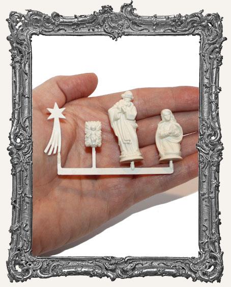 Ivory Nativity Set - Large