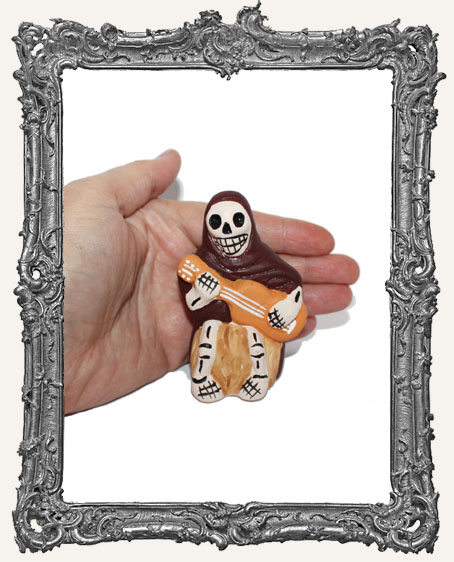 Medium Dia De Los Muertos Skeleton Figure - Guitarra