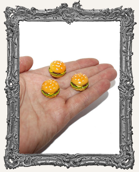 Miniature Resin Cheeseburger Cabochon