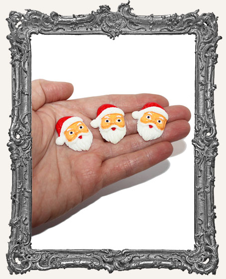 Miniature Resin Santa Cabochon