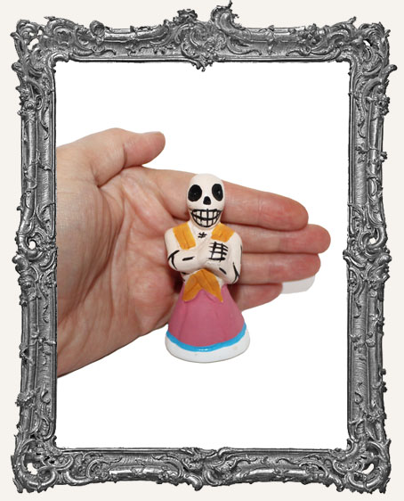 Medium Dia De Los Muertos Skeleton Figure - Senorita
