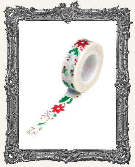 Washi Tape - Holiday Flowers