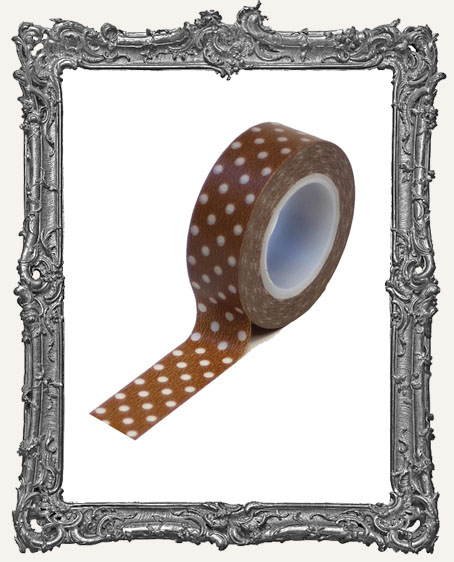 Washi Tape - Brown Polka Dots