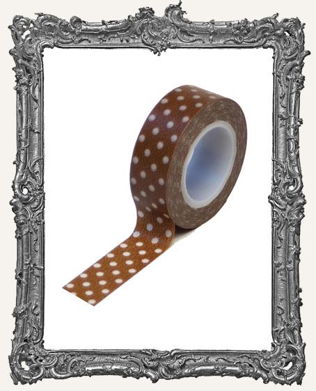 Washi Tape - Brown Polka Dots