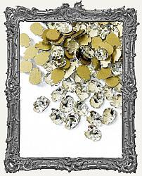 Tiny Flat Back Clear Crystal Skull Rhinestones - Set of 4