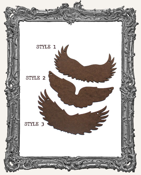 Wing Cut-Outs with Ornament Holes Option - 3 Different Styles