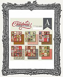 6X6 Authentique Double-Sided Cardstock Pad - Christmas Greetings