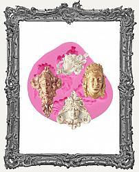 Small Pink Silicone Mold - Greek Mythology Goddess Faces