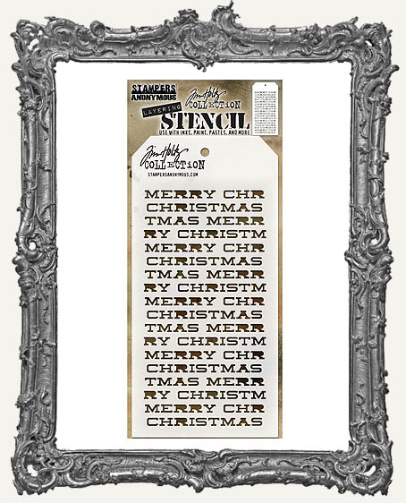 Tim Holtz Layering Stencils - MERRY CHRISTMAS