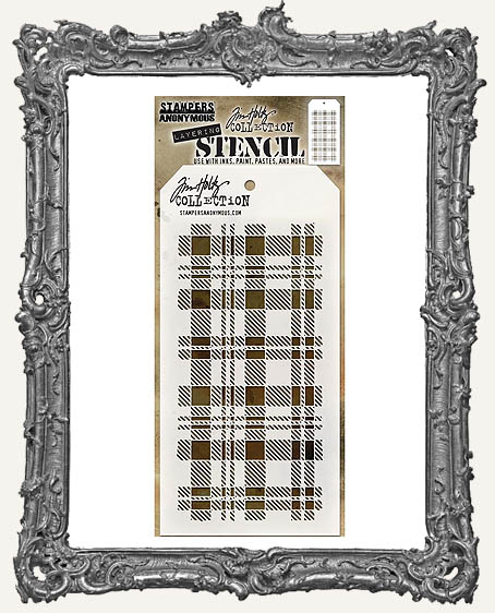 Tim Holtz Layering Stencils - PLAID
