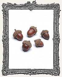 Small Faux Acorns - 120 Grams