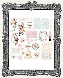 Prima Marketing Vintage Christmas Cardstock Ephemera - Christmas Sparkle - 33 Pieces