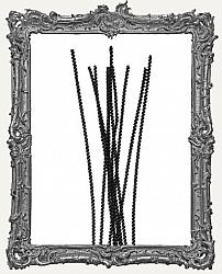 Wired Chenille Stems - 3mm - Black - 25 Pieces