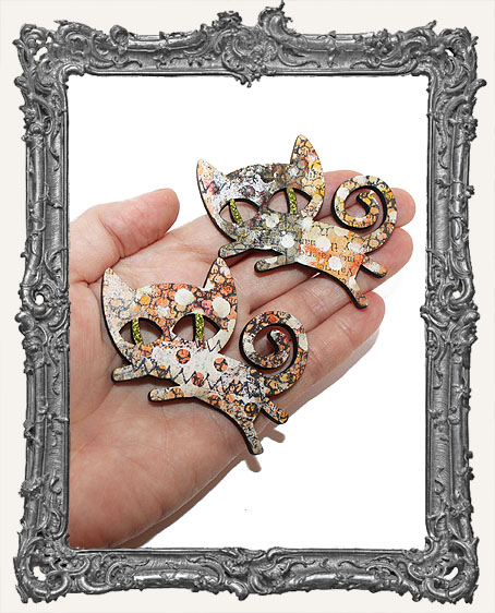 Handmade Calico Collage Kitty Magnet