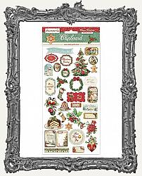Stamperia Adhesive Chipboard - Classic Christmas