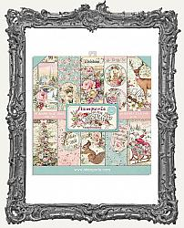 Stamperia Double-Sided Paper Pad 8X8 - Pink Christmas