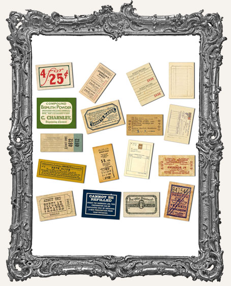 Mini Ephemera Pack - Receipts