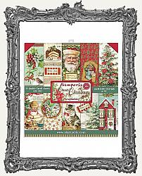 Stamperia Double-Sided Paper Pad 8X8 - Classic Christmas