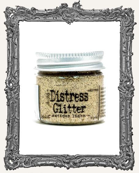 Distress Dry Glitter - Antique Linen