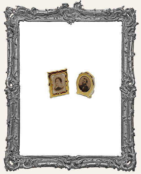 Miniature Vintage Gold Framed Photos