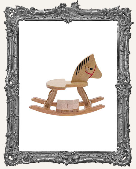 Miniature Oak Rocking Horse