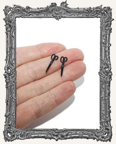Miniature Black Scissors