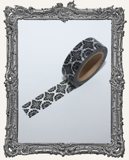 Washi Tape - Ornate Black Damask