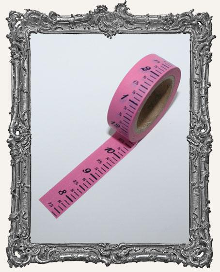 Washi Tape - Bubblegum Pink Measuring Tape