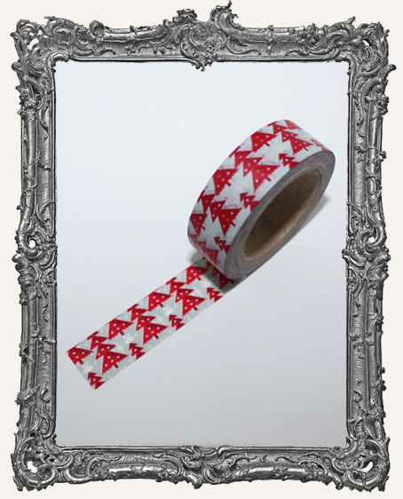 Washi Tape - Red Christmas Tree