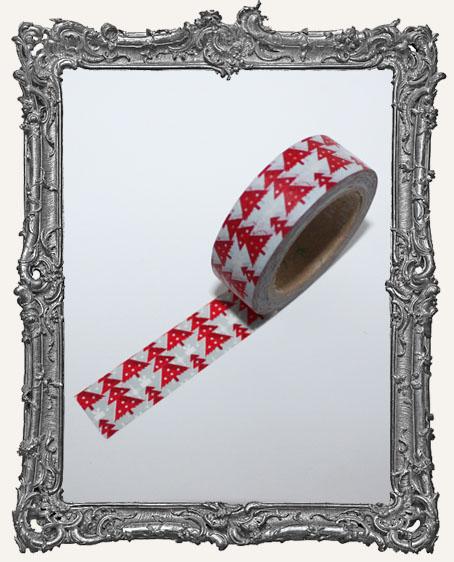Washi Tape - Red Christmas Tree