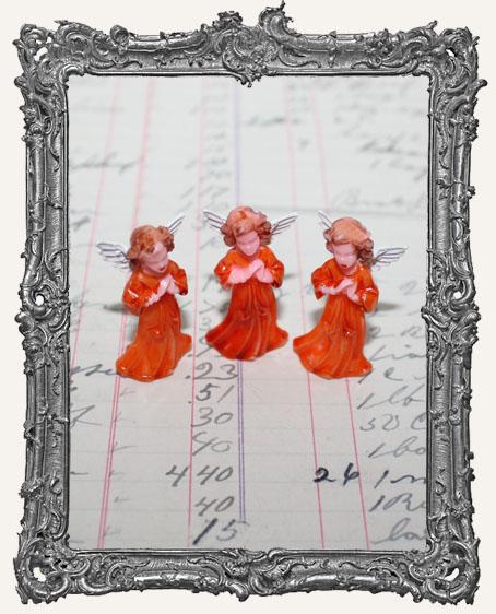 Vintage Mini Painted Praying Angels - Set of 3