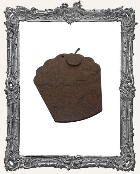 Layered Masonite Cupcake Ornament