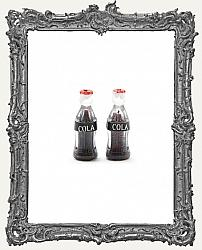 Miniature Cola Pop Bottles - Set of 2