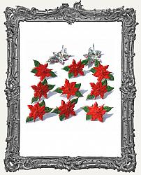 Poinsettia Brads - 12 Piece